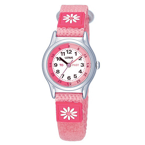 Lorus - Kids+ light pink daisy watch