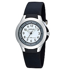 Lorus - Kids' black rubber strap watch