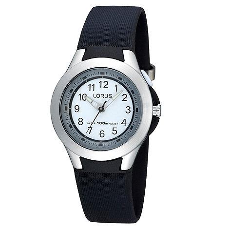 Lorus - Kids+ black rubber strap watch