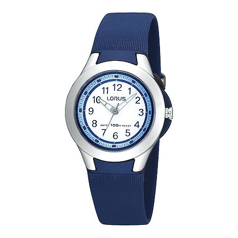 Lorus - Kids' pale blue square digital watch