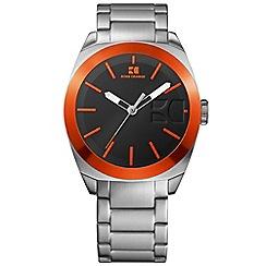 Boss Orange - Men's silver and orange bracelet watch