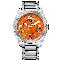 Boss Orange - Men's silver and orange watch 12369