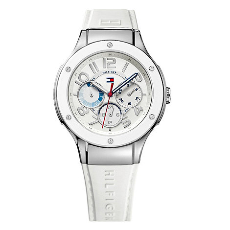 Tommy Hilfiger - Ladies white and silver multi-dial watch