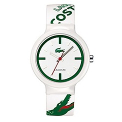 Lacoste - Men's white analogue dial rubber strap watch