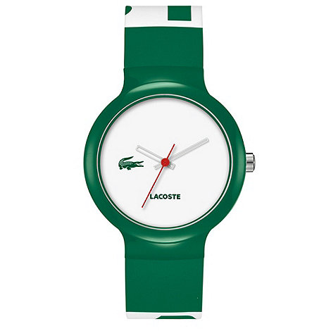 Lacoste - Men+s green two tone rubber strap watch