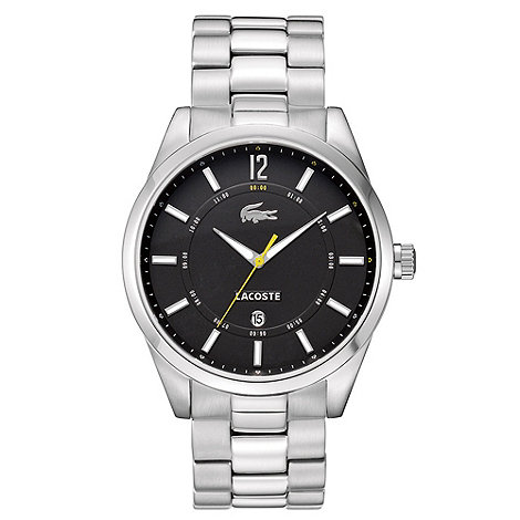 Lacoste - Men+s silver analogue dial bracelet strap watch