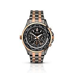 Sekonda - Men's multi-coloured 'World Timer' bracelet watch