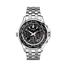 Sekonda - Men's silver 'World Timer' bracelet watch