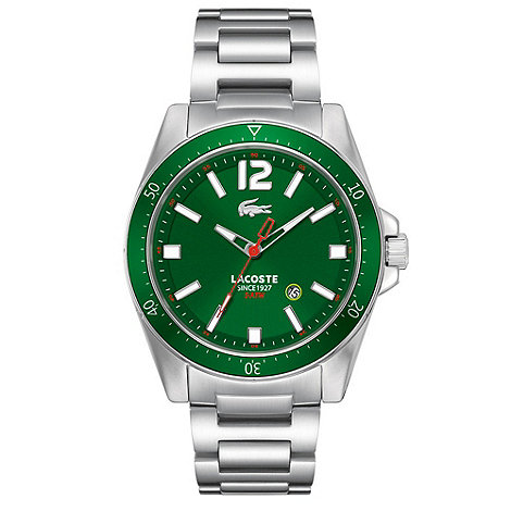 Lacoste - Men+s green contrasting dial bracelet strap watch