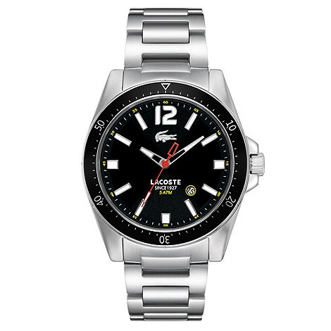 Lacoste - Men+s black contrasting dial bracelet strap watch