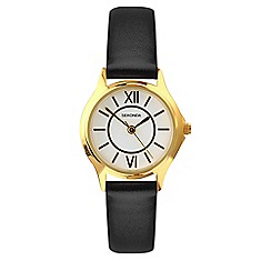 Sekonda - Ladies black analogue strap watch