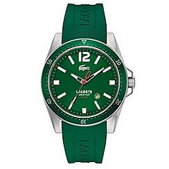 Lacoste - Men's green branded rubber strap watch