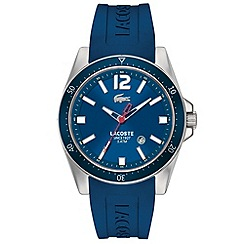 Lacoste - Men's blue branded rubber strap watch