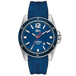 Lacoste - Men's blue branded rubber strap watch