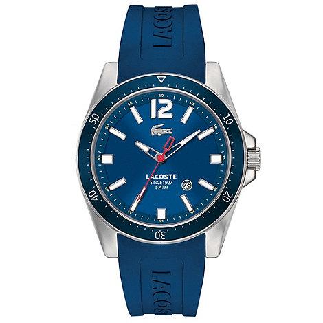 Lacoste - Men+s blue branded rubber strap watch