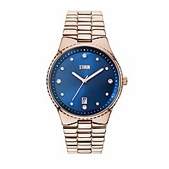 STORM London - Lecksa crystal rose gold strap watch