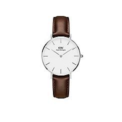 Daniel Wellington - Ladies brown 'bristol' quartz leather strap watch
