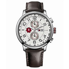 - Men's brown multi-dial watch