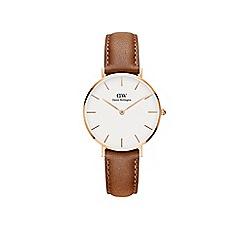 Daniel Wellington - Ladies brown 'durham' quartz leather strap watch