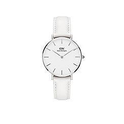 Daniel Wellington - Ladies white 'bondi' quartz leather strap watch