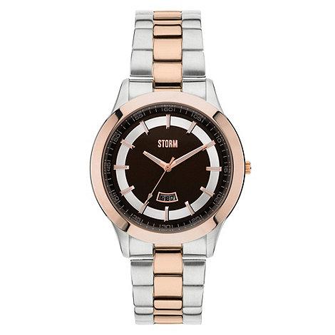 STORM London - Men+s slim mixed link bracelet watch