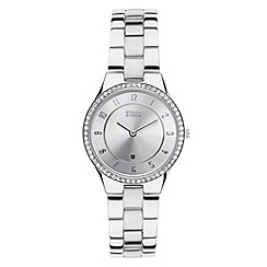 STORM - Ladies silver round dial SWAROVSKI crystal watch