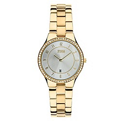 STORM - Ladies gold round dial SWAROVSKI crystal watch