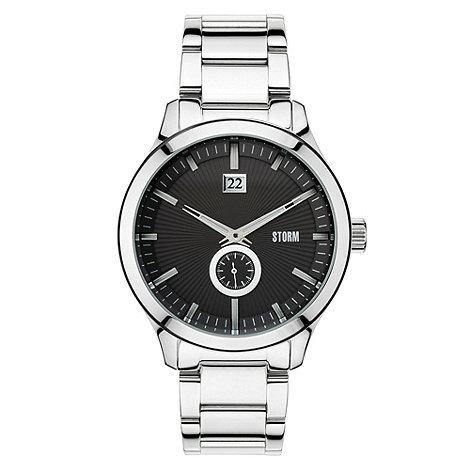 STORM London - Men+s stainless steel black dial watch