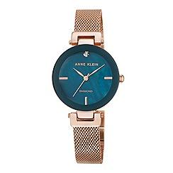 Anne Klein - Ladies rose gold 'amelia' bracelet watch