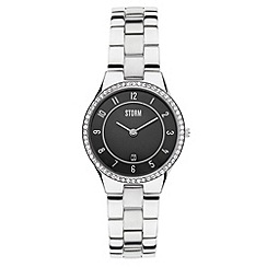 STORM - Ladies black round dial SWAROVSKI crystal watch