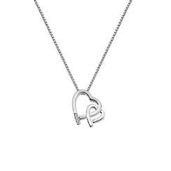Hot Diamonds - Silver 'Amore' hearts pendant necklace