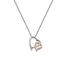Hot Diamonds - Multi-coloured 'Amore' hearts pendant necklace