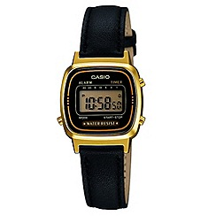 Casio - Ladies black square digital watch