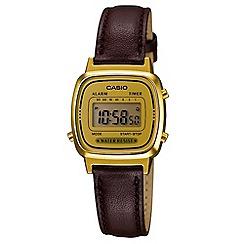 Casio - Ladies brown square digital watch