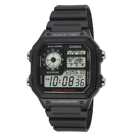 Casio - Men+s black digital watch