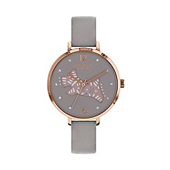 Radley - Ladies grey 'Folk Dog' watch RY2582