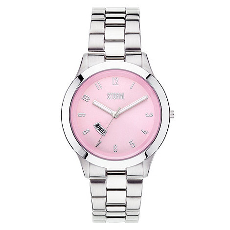 STORM London - Ladies pink dial silver bracelet watch