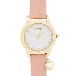 Floozie by Frost French - Ladies light pink heart charm watch