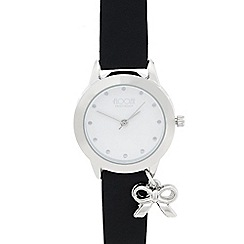 Floozie by Frost French - Ladies black bow charm watch