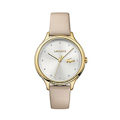 Lacoste - Ladies cream strap watch