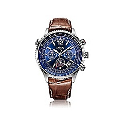 Rotary - Men's leather strap pilot watch