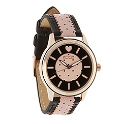 Floozie by Frost French - Ladies pink spot wrist watch
