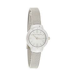 Bailey & Quinn - Ladies silver skinny mesh strap watch