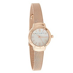 Bailey & Quinn - Ladies rose skinny mesh strap watch
