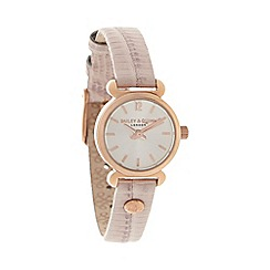 Bailey & Quinn - Ladies pink lizard textured leather strap watch