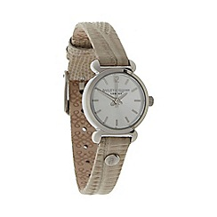 Bailey & Quinn - Ladies natural lizard textured leather strap watch