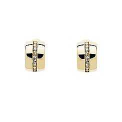 Finesse - Gold crystal curved clip earrings