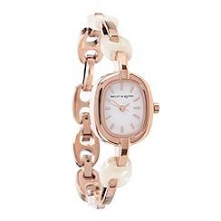 Bailey & Quinn - Ladies rose gold steel bracelet watch