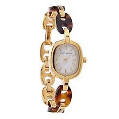 Bailey & Quinn - Ladies gold steel bracelet watch