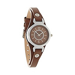 Bailey & Quinn - Ladies brown 'Ampersand' leather strap watch